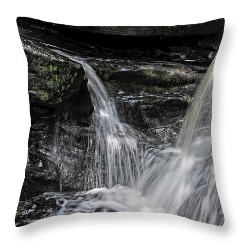 Falls Throw Pillow featuring the photograph Enders Falls No 2 by Mike Martin