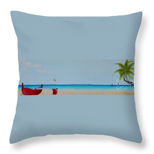 Summer Throw Pillow featuring the painting Endless Summer by Mary Deal
