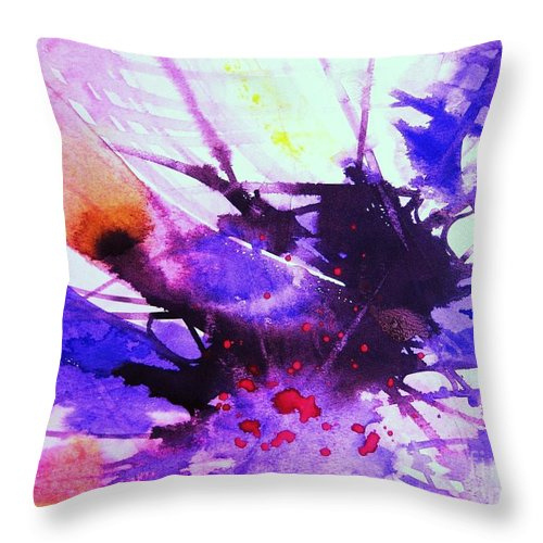 Abstract Throw Pillow featuring the painting Energy by Frances Ku
