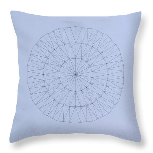 Jason Padgett Throw Pillow featuring the drawing Energy Wave 20 Degree Frequency by Jason Padgett