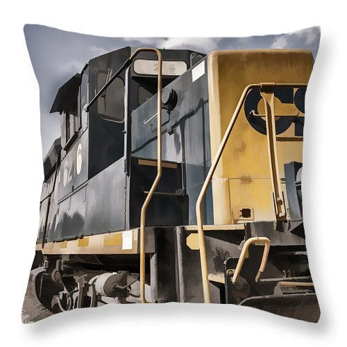 Train Throw Pillow featuring the photograph Engine 6216 by Ray Summers Photography