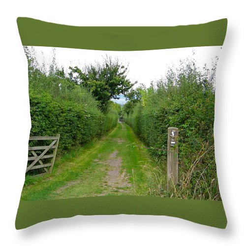 Footpath Throw Pillow featuring the photograph English Footpath by Denise Mazzocco