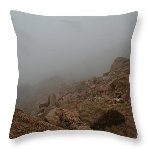 Pikes Peak Throw Pillow featuring the photograph Engulfing by Susan Herber
