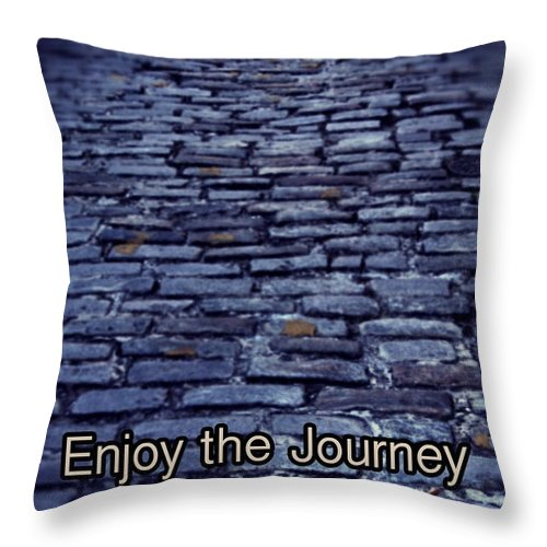 Cobblestone Road Throw Pillow featuring the photograph Enjoy The Journey by The Art With A Heart By Charlotte Phillips
