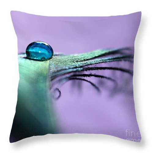 Peacock Feather Throw Pillow featuring the photograph Enjoy The Moment by Krissy Katsimbras