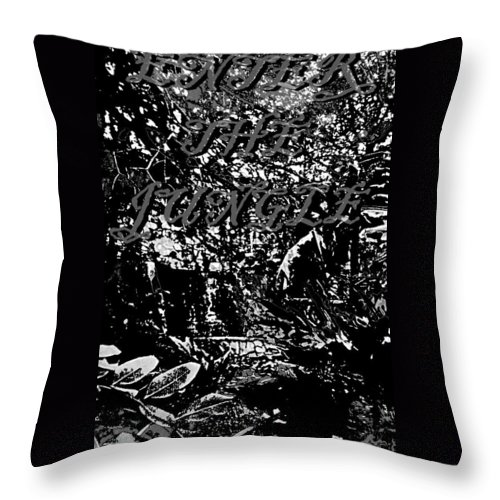 Jungle Throw Pillow featuring the photograph Enter The Jungle by Pharris Art