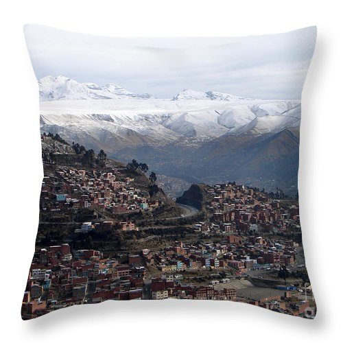 La Paz Throw Pillow featuring the photograph Entering La Paz by Lew Davis