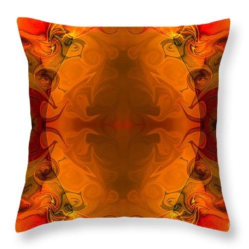 2x3 (4x6) Throw Pillow featuring the digital art Entertaining Energy Abstract Pattern Artwork By Omaste Witkowski by Omaste Witkowski