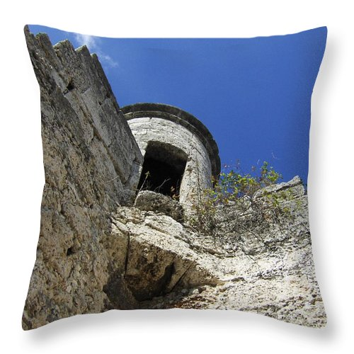 Jandrel Throw Pillow featuring the photograph Entrance by J Andrel