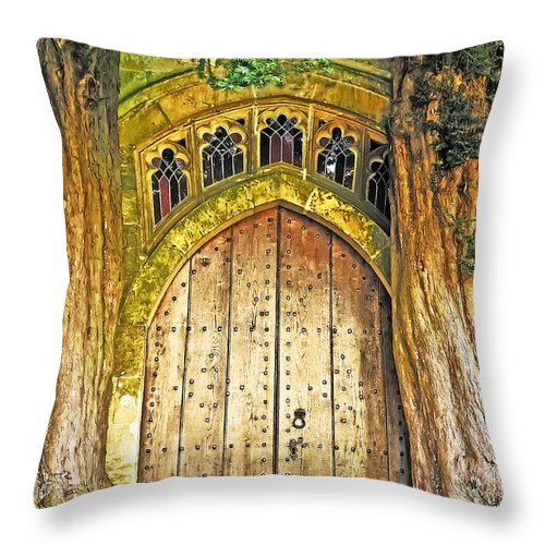 Travel Throw Pillow featuring the photograph Entrance To Middle Earth by Elvis Vaughn