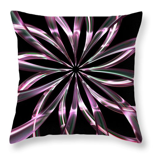 Glass Throw Pillow featuring the digital art Entwine Violot by Louis Ferreira
