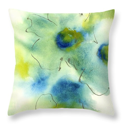 Original Watercolors Throw Pillow featuring the painting Essence Of Poppy II by Chris Paschke