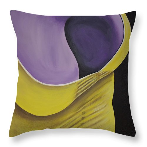 Female Body Throw Pillow featuring the painting Essence Of Violet by Dean Stephens