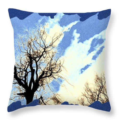 Essence Of Winter Throw Pillow featuring the digital art Essence Of Winter by Will Borden