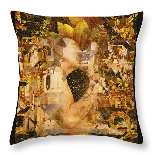 Nude Throw Pillow featuring the photograph Eternally Yours by Kurt Van Wagner