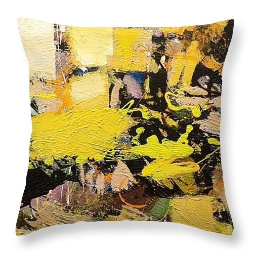 Landscape Throw Pillow featuring the painting Euclid by Allan P Friedlander
