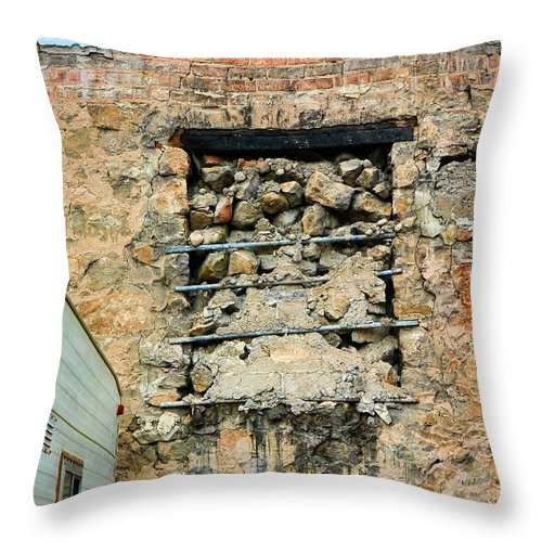 Evanston Throw Pillow featuring the photograph Evanston Wyoming - 1 by Ely Arsha