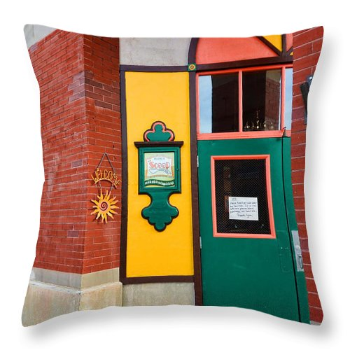 Evanston Throw Pillow featuring the photograph Evanston Wyoming - 2 by Ely Arsha