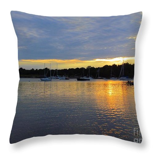 Sunset Throw Pillow featuring the photograph Evening Approaches by Elizabeth Dow