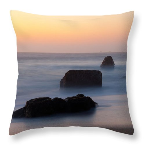 Evening Throw Pillow featuring the photograph Evening At Beach 5 by Catherine Lau