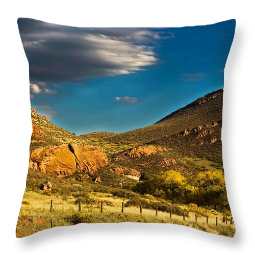Hogbacks Throw Pillow featuring the photograph Evening Hogbacks by Jon Burch Photography