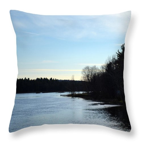 Evening Throw Pillow featuring the photograph Evening Light As The Sun Goes Down by Maggy Marsh
