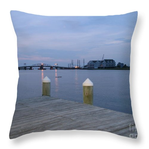 Evening Light Throw Pillow featuring the photograph Evening Light At Chincoteague Sound by Christiane Schulze Art And Photography