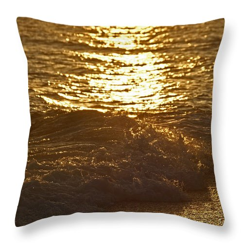 Evening Sun Throw Pillow featuring the photograph Evening Sun Hive Beach Four by Simon Kennedy