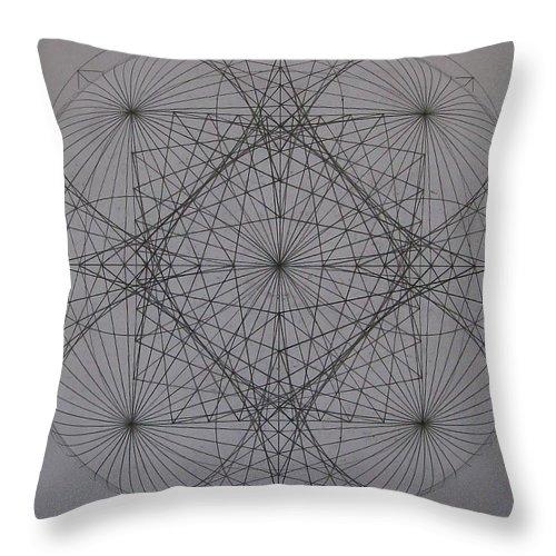 Event Horizon Throw Pillow featuring the digital art Event Horizon by Jason Padgett