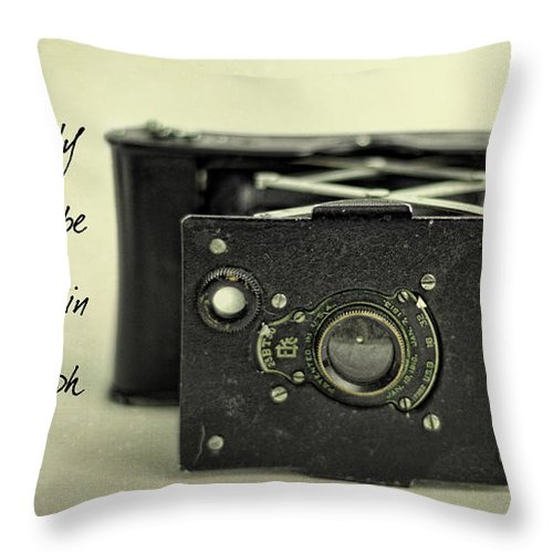 Vintage Throw Pillow featuring the photograph Eventually... by K Hines