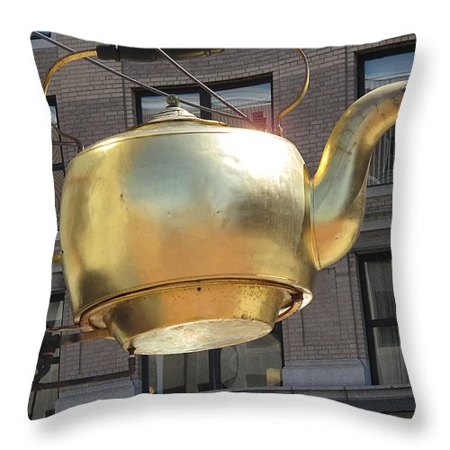 Tea Pot Throw Pillow featuring the photograph Ever Steaming Kettle by Barbara McDevitt