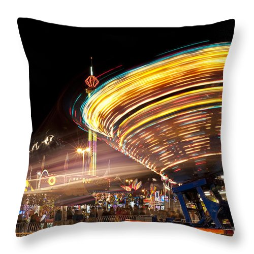 Americana Throw Pillow featuring the photograph Evergreen State Fair by Jim Corwin