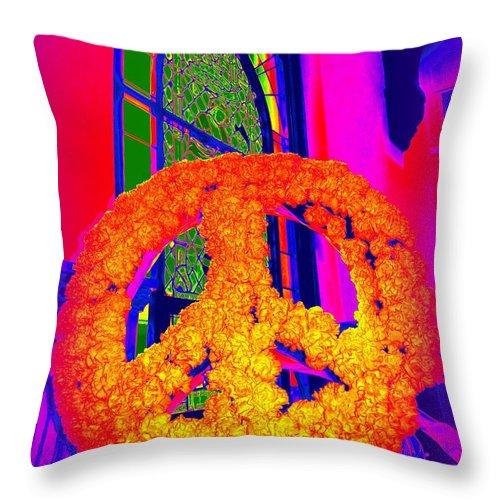 Pop Art Throw Pillow featuring the photograph Everlasting Peace by Ed Weidman