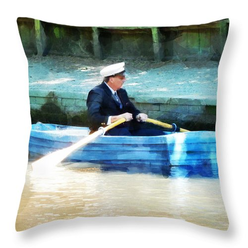 Dappled Throw Pillow featuring the photograph Everyone Is The Captain Of Their Own Boat by Steve Taylor
