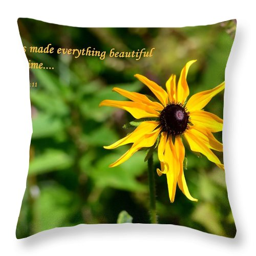 Flower Throw Pillow featuring the photograph Everything Beautiful by Deena Stoddard