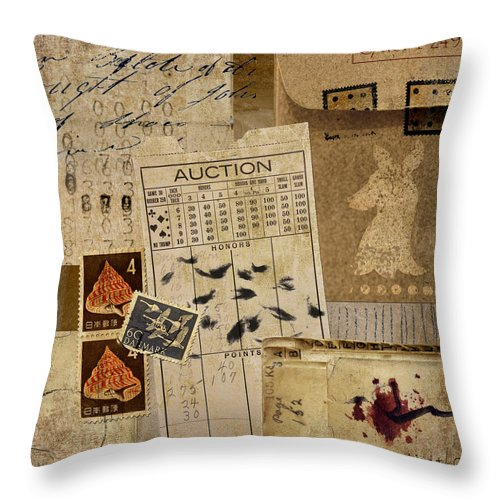 Evidence Throw Pillow featuring the photograph Evidence by Carol Leigh