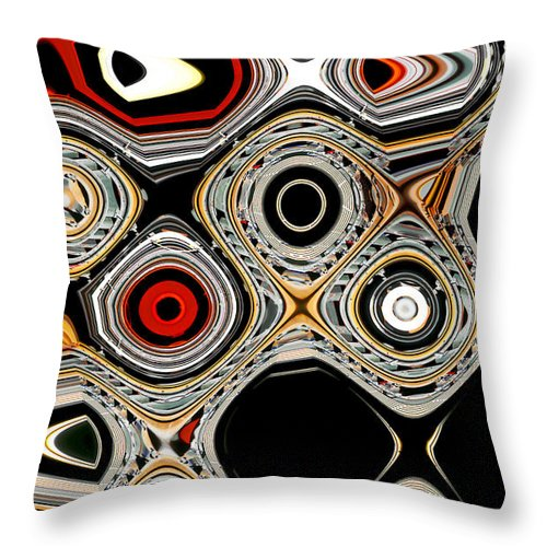 Abstract Throw Pillow featuring the photograph Evolution Of Man - Growth by Linda Parker