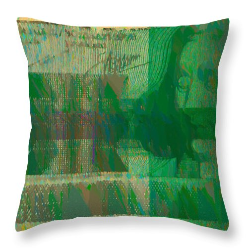 Digital Art Throw Pillow featuring the photograph Ex 1000 by Luc Van de Steeg