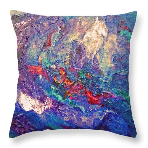 Abstract Throw Pillow featuring the painting Exalted by Michael Durst