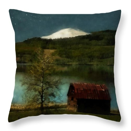 Landscape Throw Pillow featuring the painting Excellence And Peace by RC DeWinter