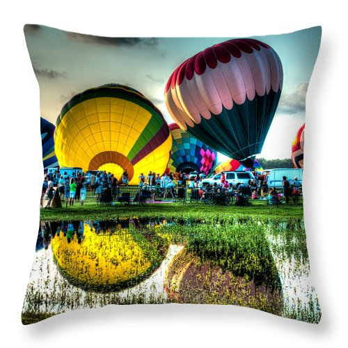 Foley Throw Pillow featuring the pyrography Excitement by Edward Cooper