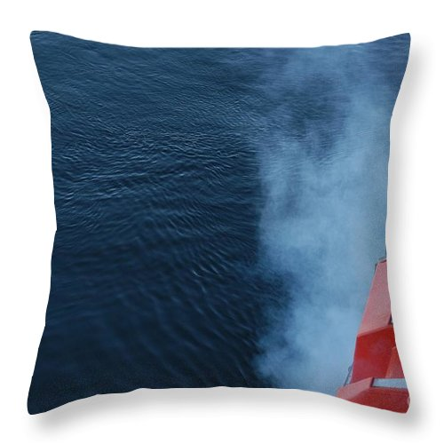 Alaska Throw Pillow featuring the photograph Exhaust by Joseph Yarbrough