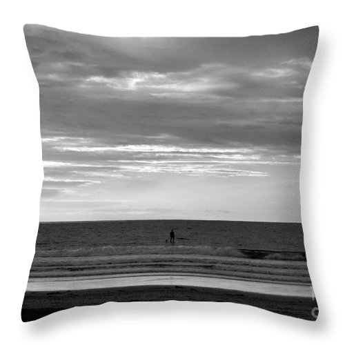La Jolla Throw Pillow featuring the photograph Existential Contemplation by Samantha Glaze