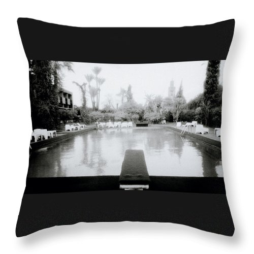 Paradise Throw Pillow featuring the photograph Exotic Oasis by Shaun Higson