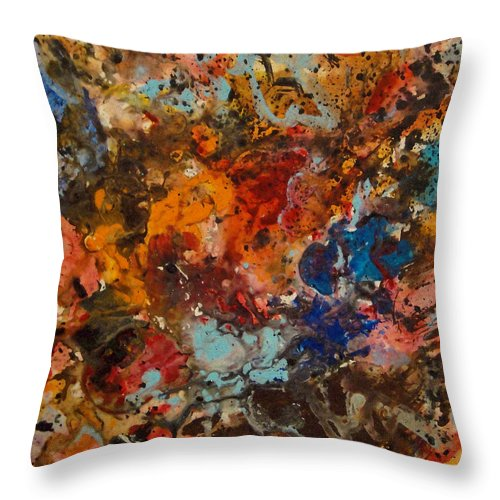 Expressionism Throw Pillow featuring the painting Explosive Chaos by Natalie Holland