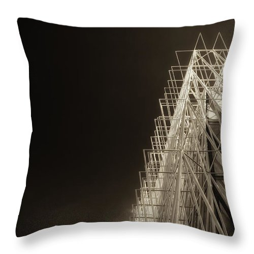 Color Efex Pro Throw Pillow featuring the photograph Expo Gate by Roberto Pagani