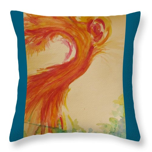 Expression Throw Pillow featuring the painting Movement by Shelby Robbins