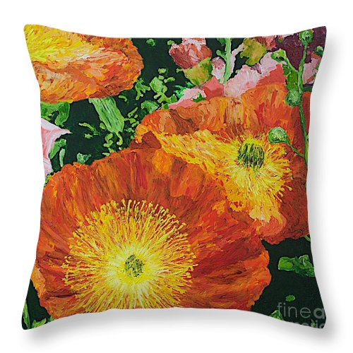 Landscape Throw Pillow featuring the painting Exuberance is Beauty by Allan P Friedlander