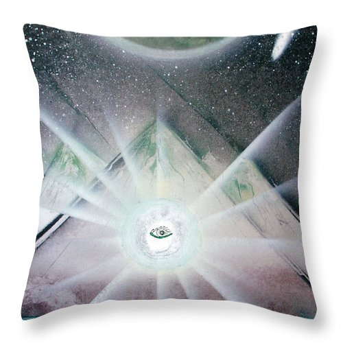 Landscape Throw Pillow featuring the painting Eye Am I by Jason Girard