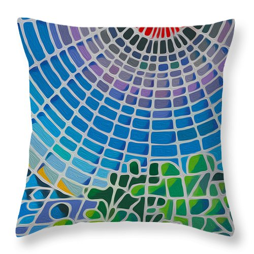 God Throw Pillow featuring the digital art Eye Of God by Anthony Mwangi